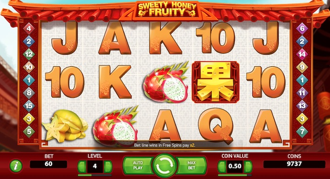 Sweety Honey Fruity slot NetEnt