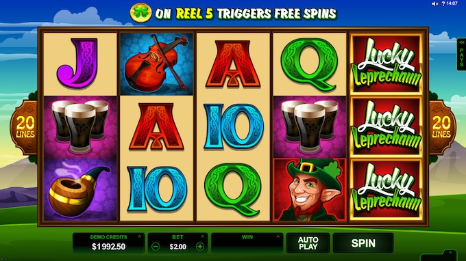 Lucky Leprechaun slot Microgaming