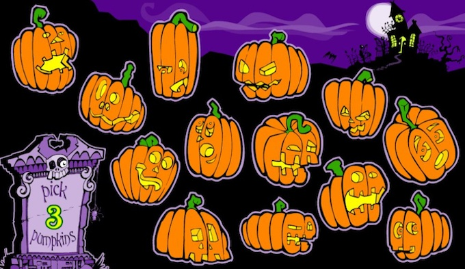Recurso pick a pumpkin slot Halloweenies