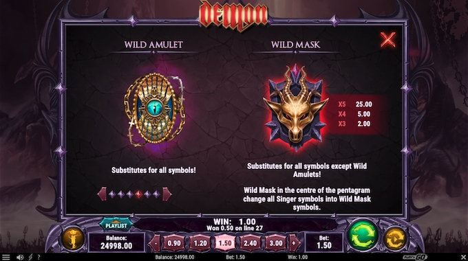 Símbolos slot Demon