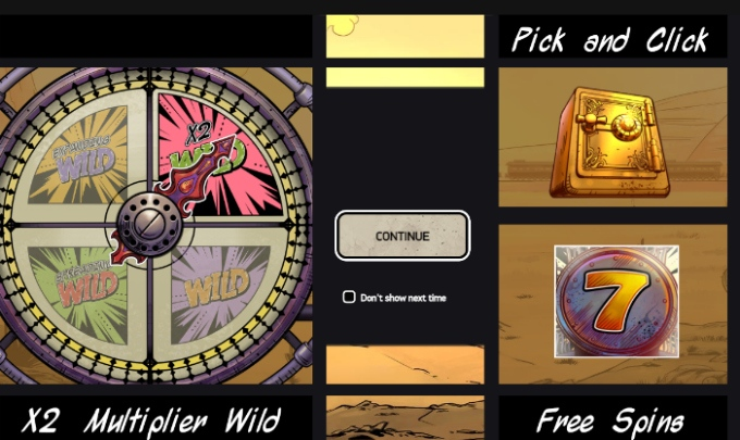 Caraterística pick and click one slot Wild Wild West